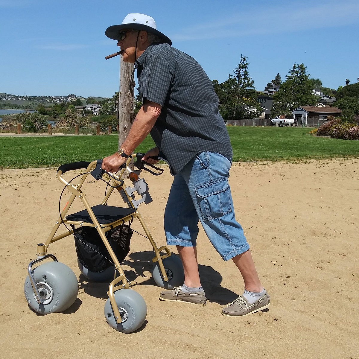 Enjoy accessing the soft sand with ease