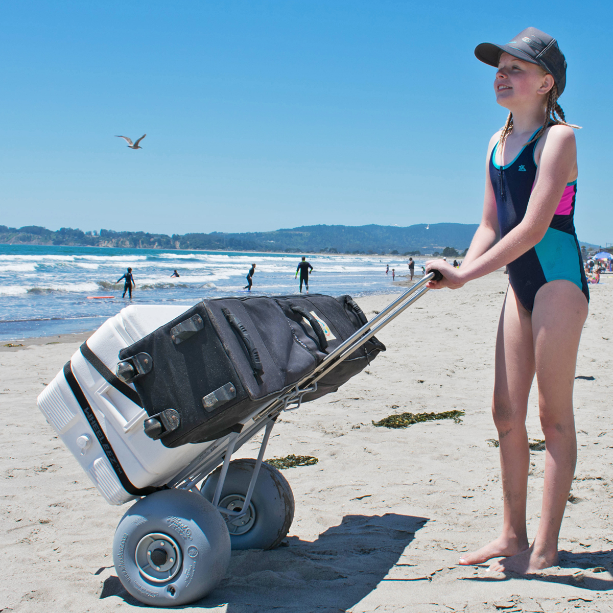Wheeleez Beach Cart Folding Wheeleez Inc Wheeleez Low Pressure Wheels