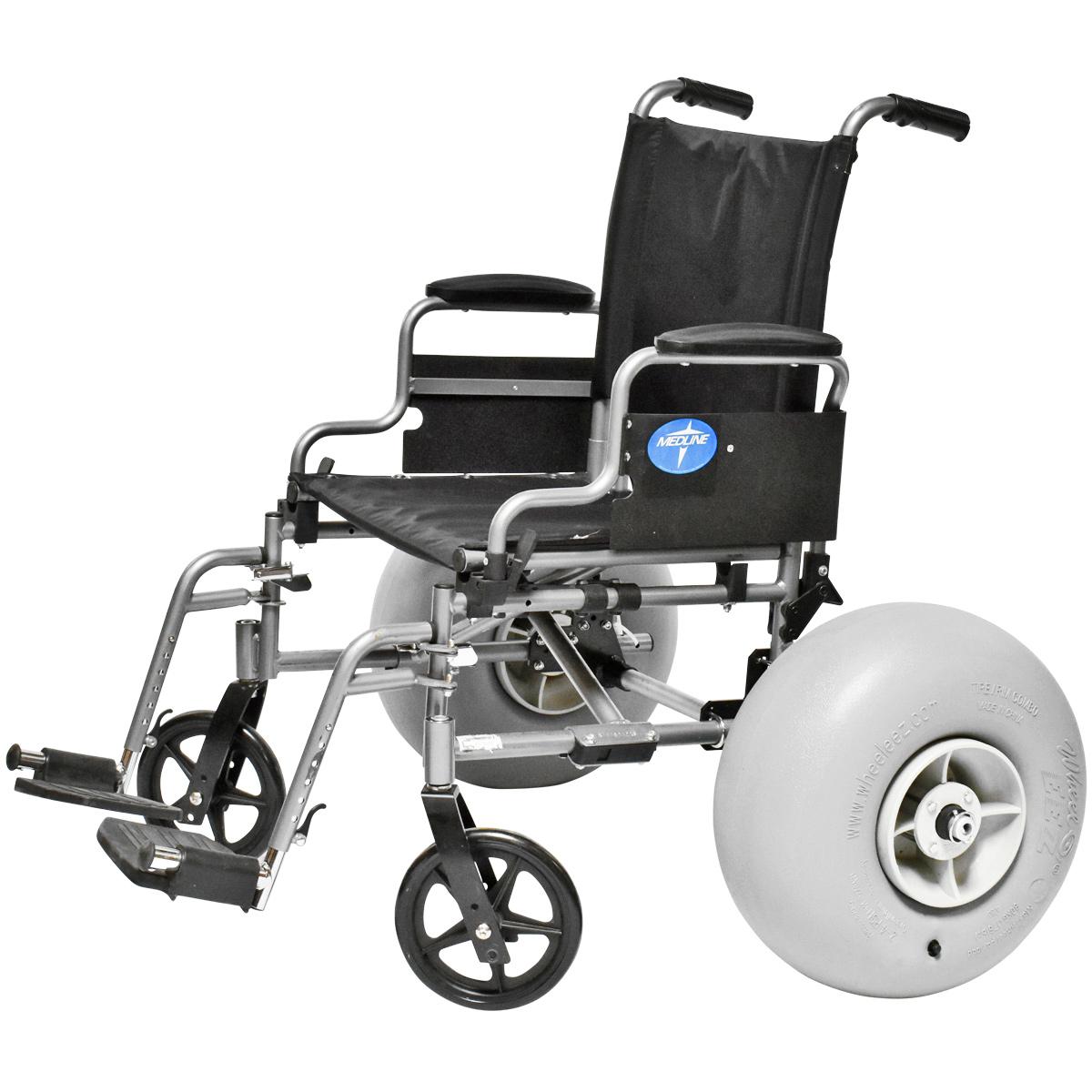 wheeleez wheelchair beach conversion kit with 42 cm wheels
