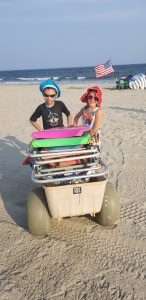 Wheeleez Beach Cart with Balloon Wheels