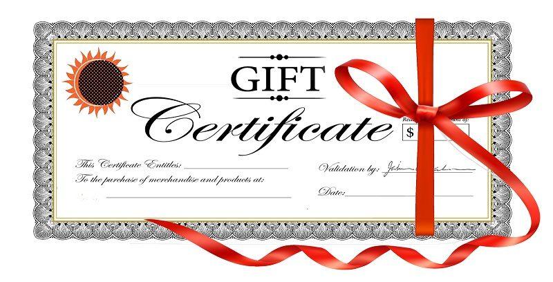 WheelEEZ Gift Certificates