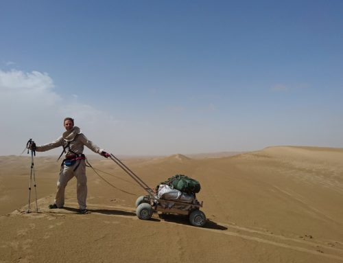 Rob Lilwall Walks 71 Days Across the Desert; His Gear Rolls Behind Him on WheelEEZ® Wheels