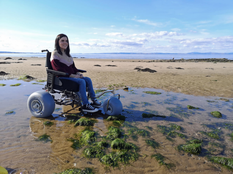 The WheelEEZ® All-Terrain Kit... 'add to most manual wheel chairs without drilling'