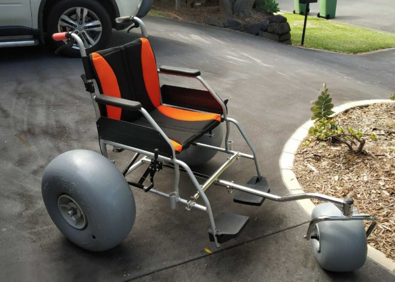 WheelEEZ® All-Terrain/Beach Wheelchair Conversion Kit